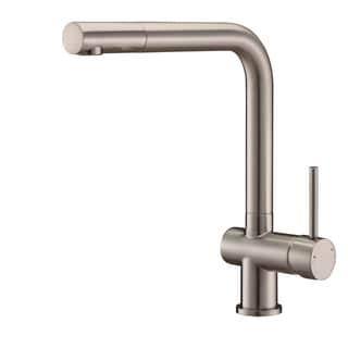 Ruvati RVF1235BN Brushed Nickel Single Handle Kitchen Faucet