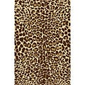 Animal Prints Leopard Gold Non-Skid Area Rug (2'0 x 3'3)