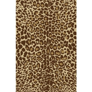 Animal Prints Leopard Gold Non-Skid Area Rug (3'3 x 5'3)