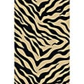 Animal Prints Zebra Black Non-Skid Area Rug (2' x 3'3)