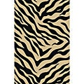 Animal Prints Zebra Black Non-Skid Area Rug (5' x 7')