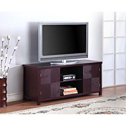 K&B Espresso Finish TV Stand