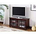 K&B Dark Cherry Finish TV Stand