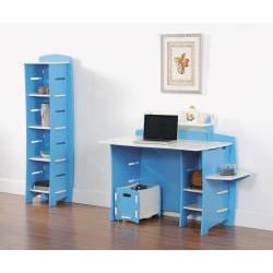 Legare Kids' Blue/ White Desk with File Cart