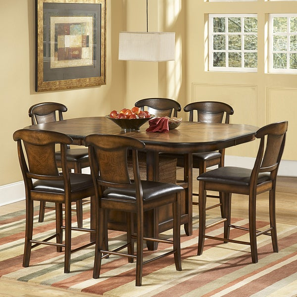 tribecca home glenbrook 7 piece counter height dining set 14579826