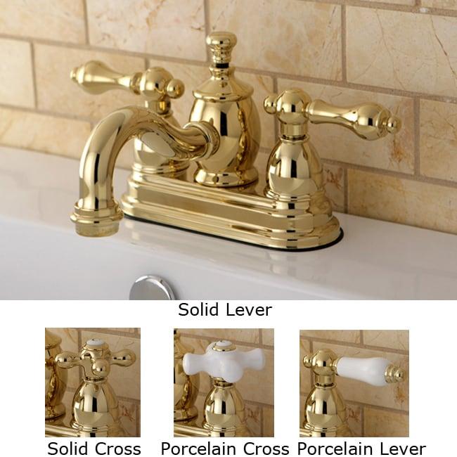 Victorian Spout Polished Brass Bathroom Faucet