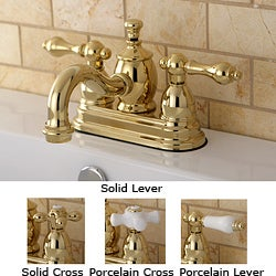 Victorian Spout Polished Brass Bathroom Faucet