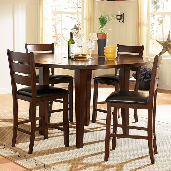 Camden 5-Piece Round Shape Counter Height Set
