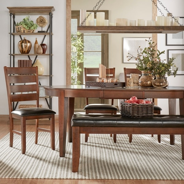 TRIBECCA HOME Camden Oval Shape Dining Set