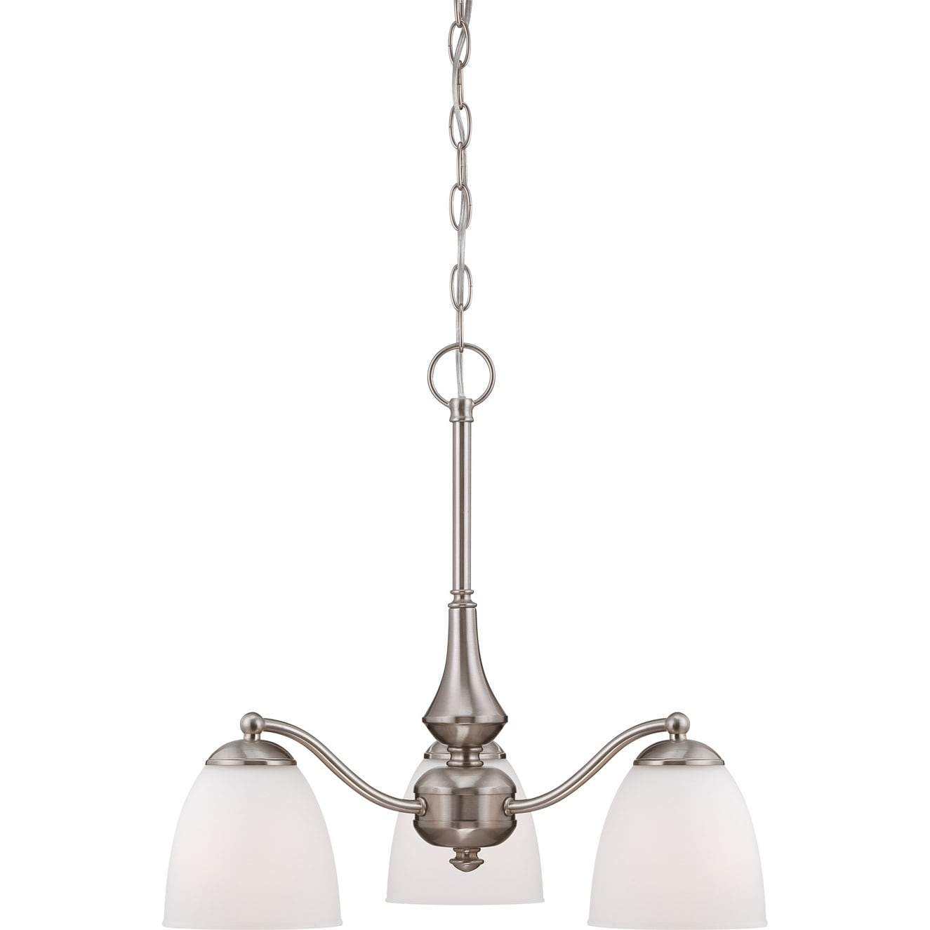 Nuvo Patton 3-light Brushed Nickel Fluorescent Chandelier