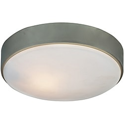 Transitional 1 Light Brushed Nickel Flush Fixture