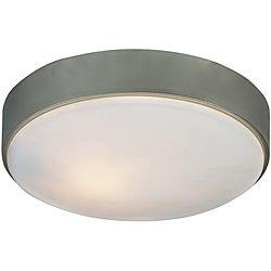 Transitional 1 Light Brushed Nickel Flush Fixture