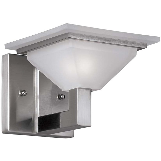 Bathroom Vanity Lights Overstock : Contemporary 1 Light Nickel Bath/ Vanity - 14579845 - Overstock.com Shopping - Top Rated Aztec ...