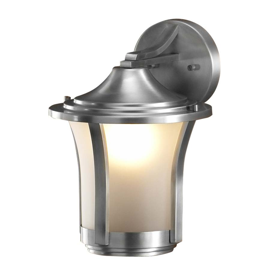 Contemporary 1-light Outdoor Wall Lamp in Aluminum