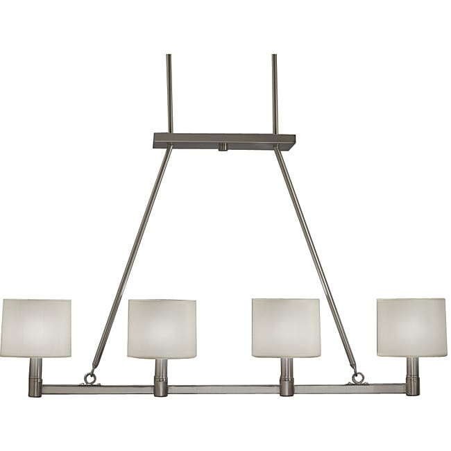 Contemporary 4 Light Brushed Nickel Island Light