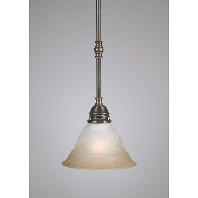 transitional 1 light antique brass mini pendant 14579849