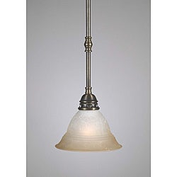 Transitional 1 Light Antique Brass Mini Pendant