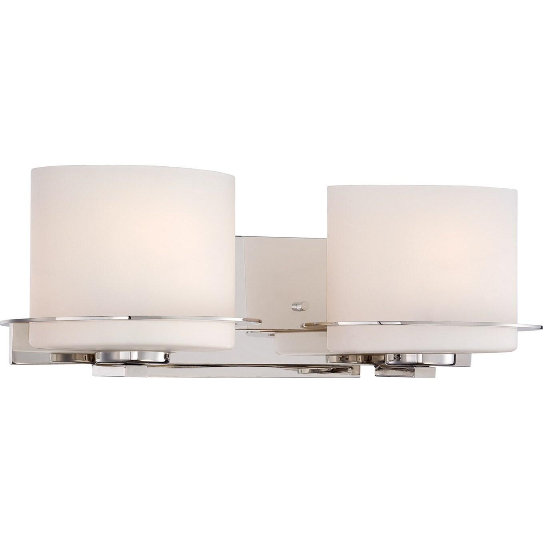Nuvo Loren 2-light Polished Nickel Vanity Fixture