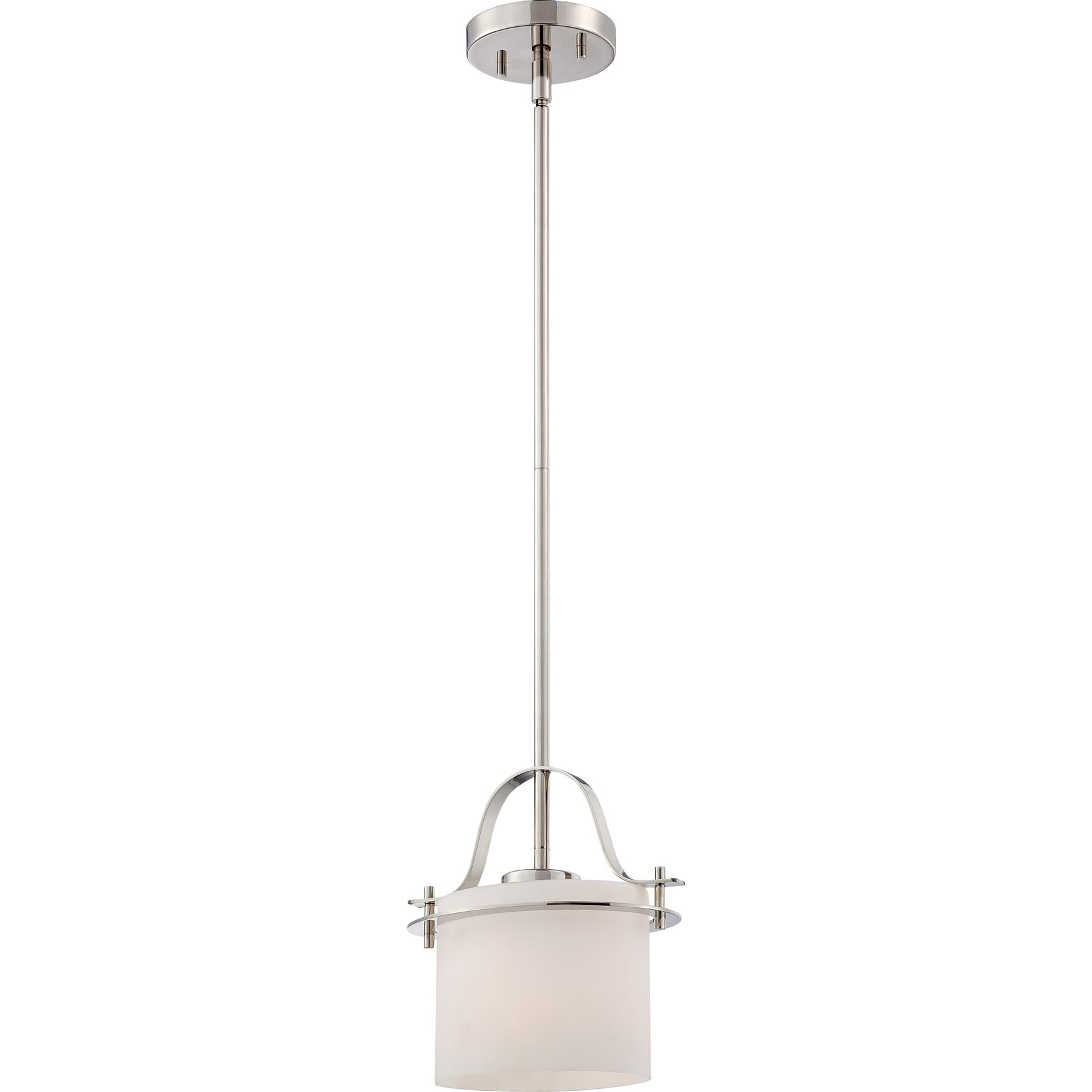 Nuvo Loren 1-light Polished Nickel Mini Pendant