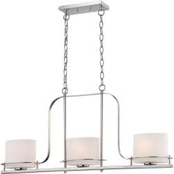 Nuvo Loren 3-Light 60-Watt Polished-Nickel Pendant