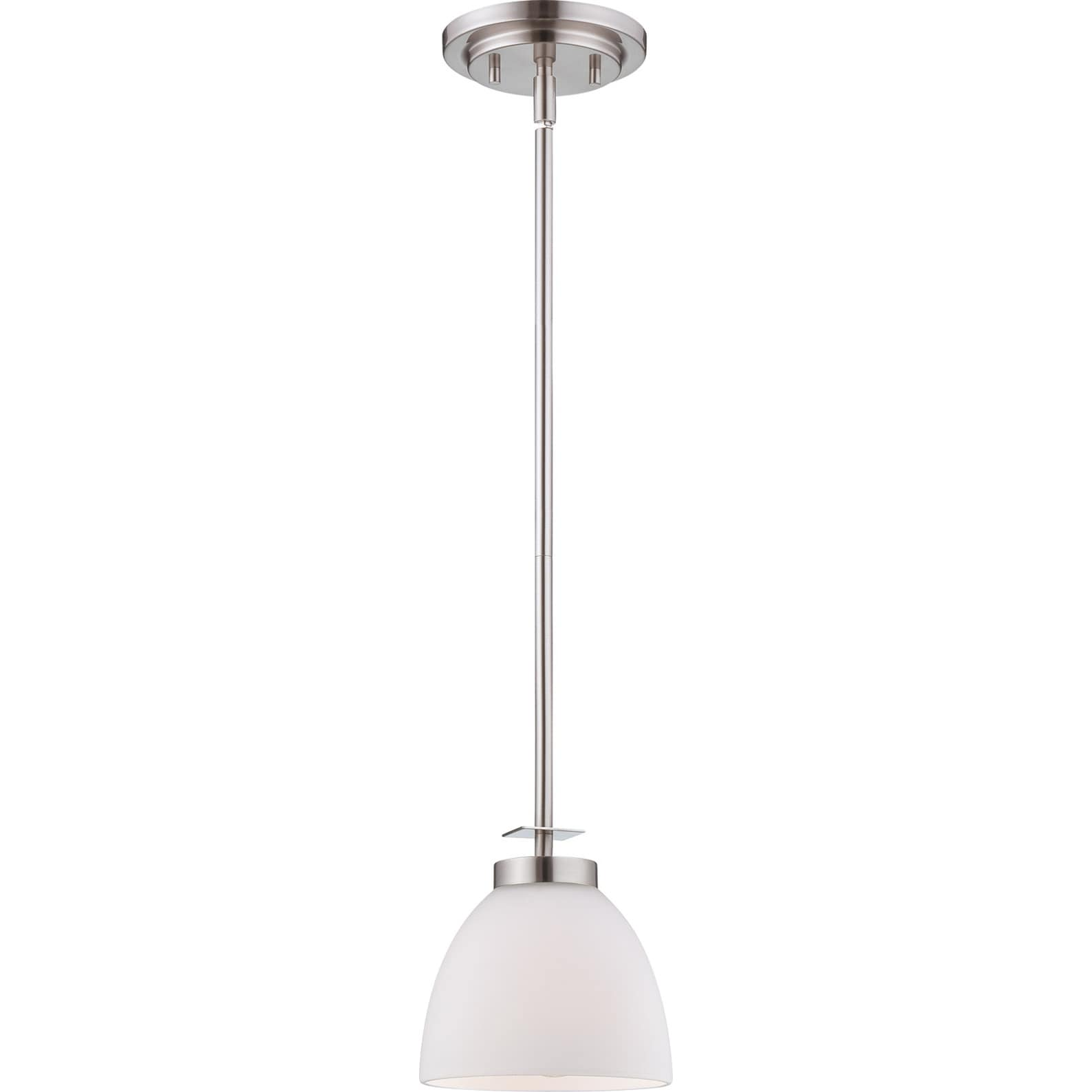nuvo bentley 1 light brushed nickel mini pendant 14579920