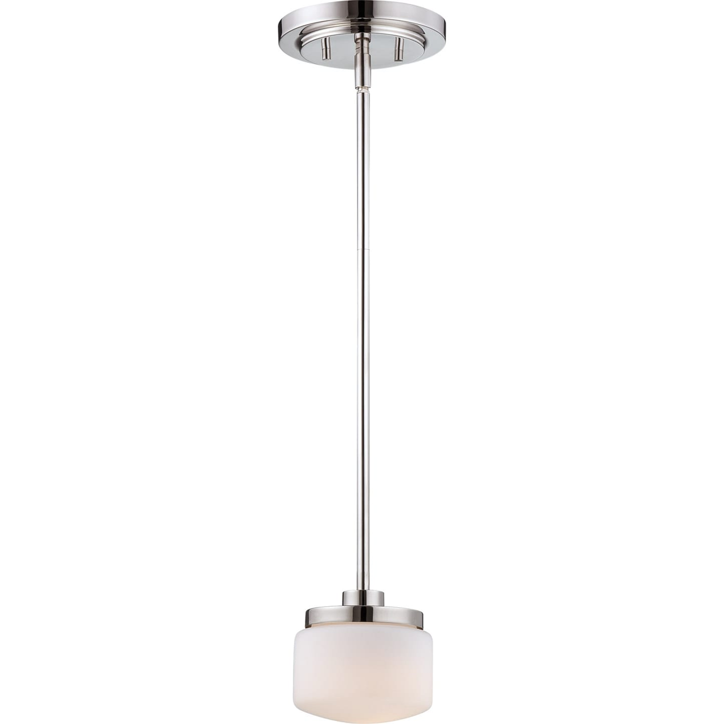 Nuvo 'Austin' 1-light Polished Nickel Mini Pendant