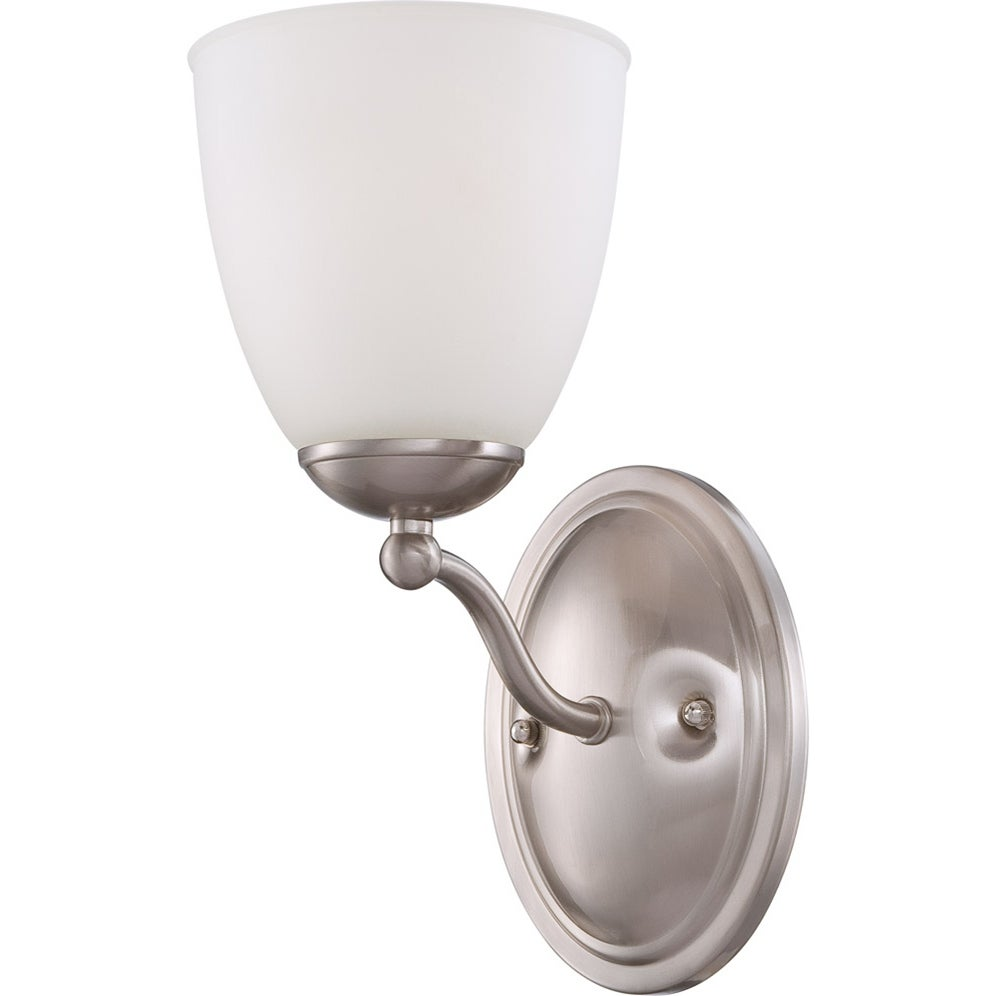 Nuvo 'Patton' 1-light Brushed Nickel Vanity Fixture