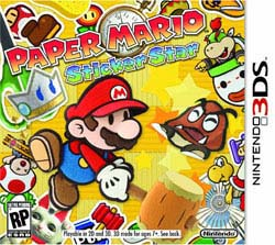 NinDS 3DS - Paper Mario Sticker Star