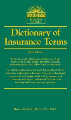 Dictionary of Insurance Terms (Paperback)