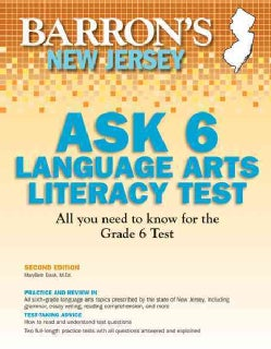 Barron's New Jersey Ask 6 Language Arts Literacy Test (Paperback)