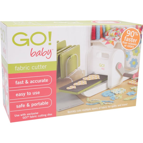 GO! Baby Portable Lightweight Scrapbooking Sewing Craft Fabric Cutter