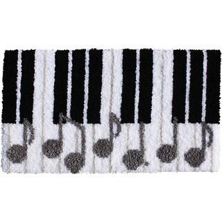 """Latch Hook Kit 30-1/2""""X17""""-Piano Keys"""