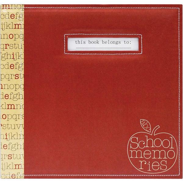 """School Memories Scrapbook 12""""X12""""-Red Apple"""