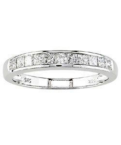 Miadora 14k White Gold 1/2ct TDW Diamond Wedding Band (H-I, I1-I2)