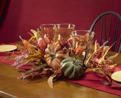 Harvest Triple Candelabrum Silk Plant