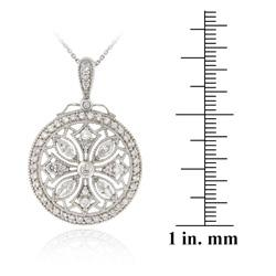 Icz Stonez Sterling Silver Cubic Zirconia Medallion Necklace