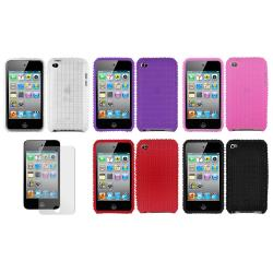 Tire Tread Apple iPod Touch 4th Generation Silicone Case and Screen Protector