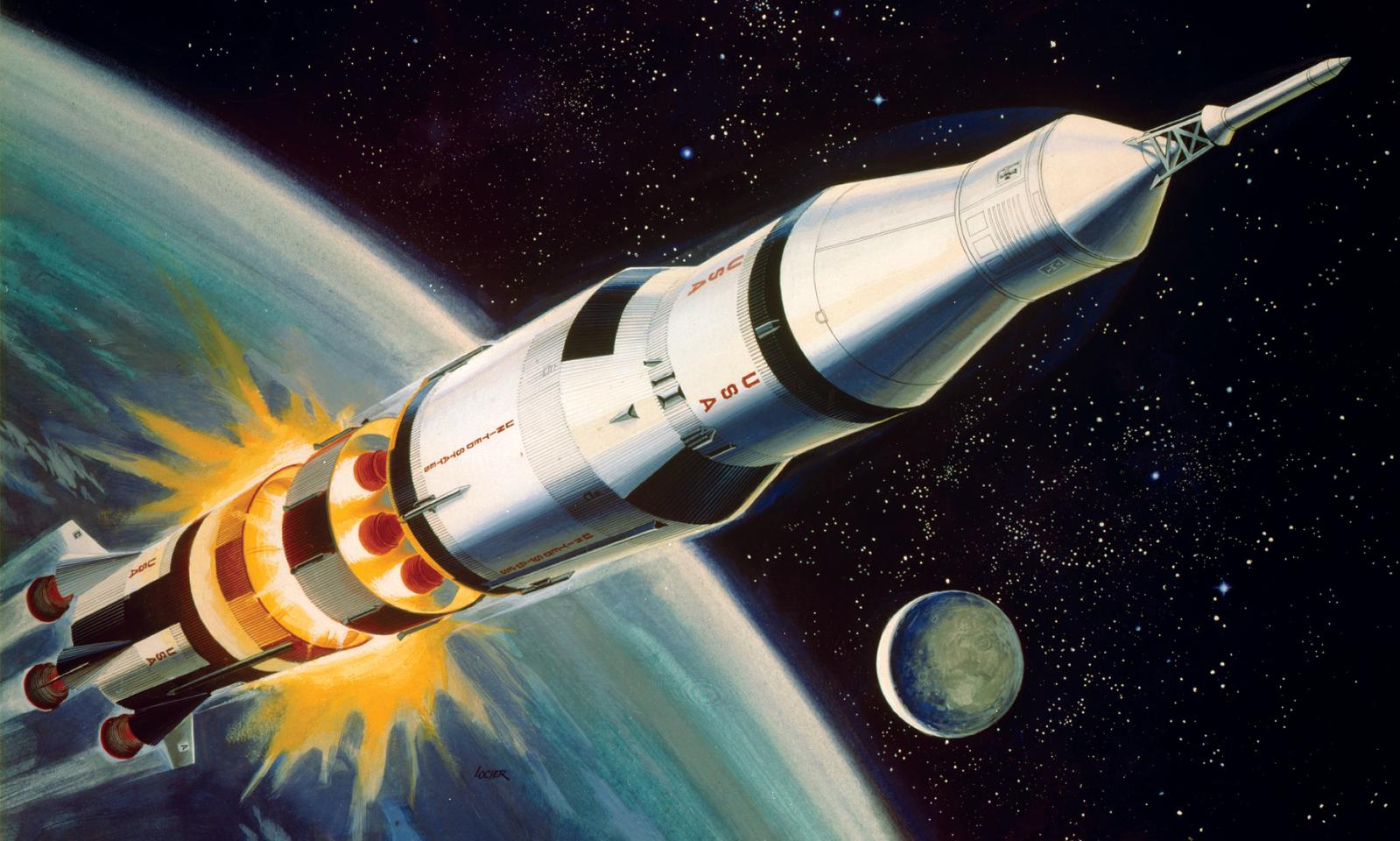 Revell 1:144 Scale Die Cast Detailed Easy to Assemble Saturn V Rocket