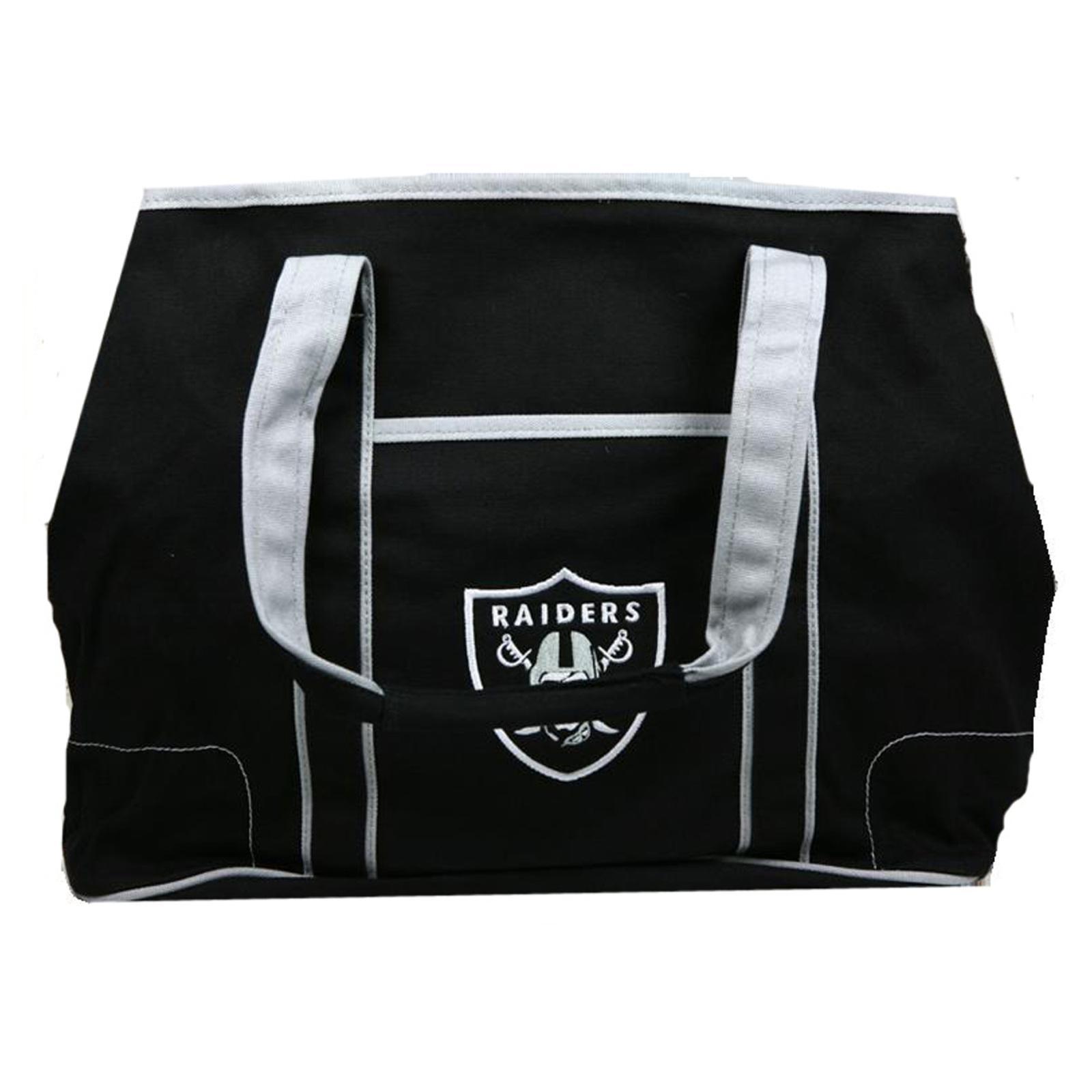 Oakland Raiders Canvas Hampton Tote Bag