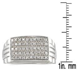 10k White Gold 1/4ct TDW Men's Diamond Ring (H-I, I1-I2)