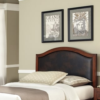 Home Styles Duet Queen Leather Inset Headboard
