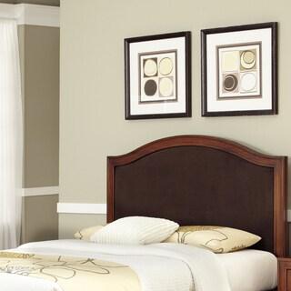 Home Styles Duet King/California King Camelback Microfiber Inset Mahogany Headboard