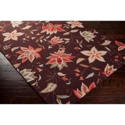 Hand-hooked Boles Mossy Brown Rug (2' x 2'9)