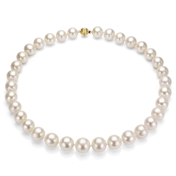 14k Gold Cultured Freshwater Pearl Necklace (11-12 mm/ 18 in)