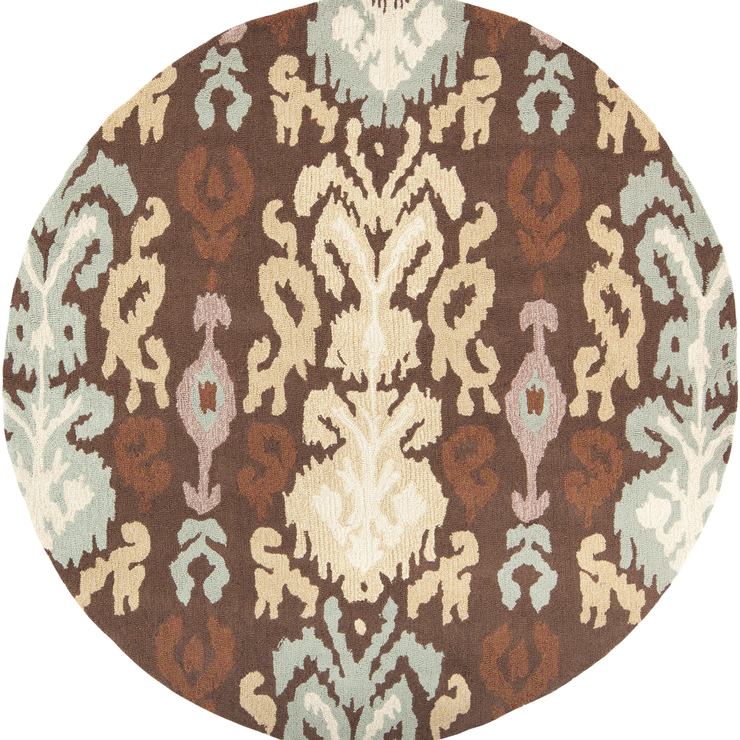 Hand-hooked Canehill Brown Rug (6' Round)