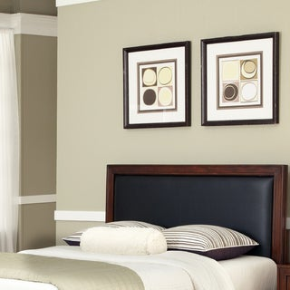Duet King / California King Panel Headboard Black Leather Inset