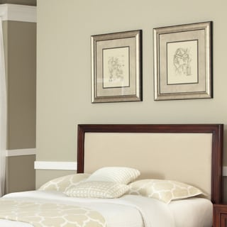 Duet King / California King Panel Headboard Oyster Microfiber Inset