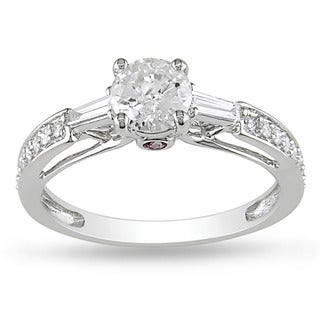 Miadora 14k Gold 1ct TDW Diamond and Pink Sapphire Ring (G-H, I1-I2)