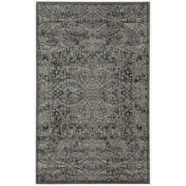 Nourison Graphic Illusions Moasic Grey Rug (3'6 x 5'6)