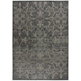 Nourison Graphic Illusions Moasic Grey (5'3 x 7'5)